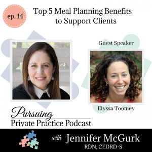 Pursuing Private Practice Podcast - Top 5 Meal Planning Benefits