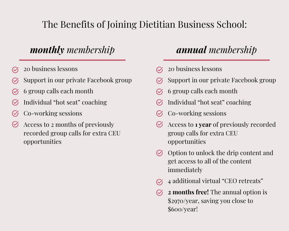dbs membership options graphic