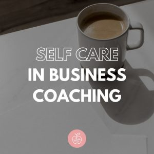 self care in business coaching