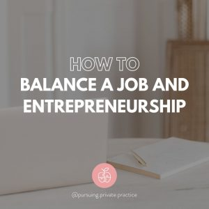 balance job and entrepreneurship