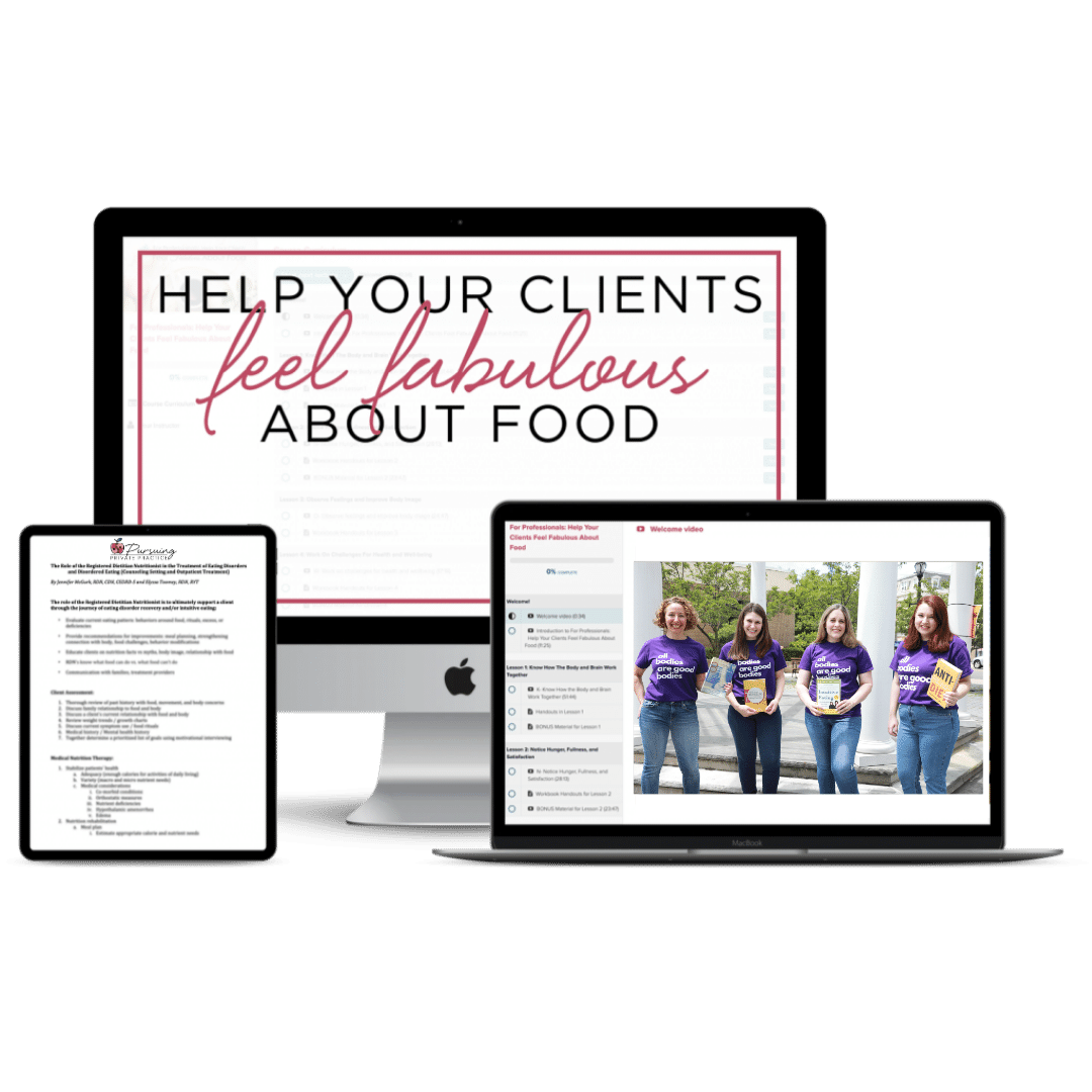 help your clients feel fabulous about food